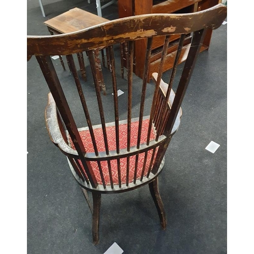1500 - North Country stickback country chair....