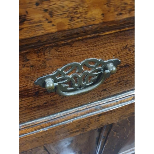 1503 - Elm wood coffer with detachable lid. 95H x 126W x 57D cms....