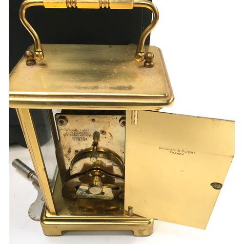 1250A - Brass carriage clock together with a Westminster Chiming clock....