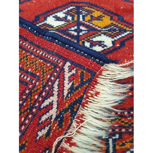 1449 - Vintage carpet on red ground....