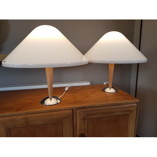 50A - Harvey Guzzini for I Guzzini Italy, a fine pair of contemporary table lamps recently removed from a ...