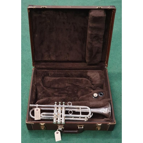 376A - Besson New Creation vintage trumpet in double case. Vendor advises this has been overhauled.
