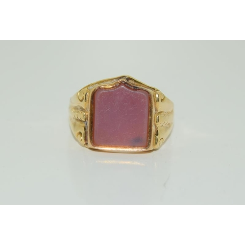 20 - 18ct Antique Gents Fully Hallmarked Ring.