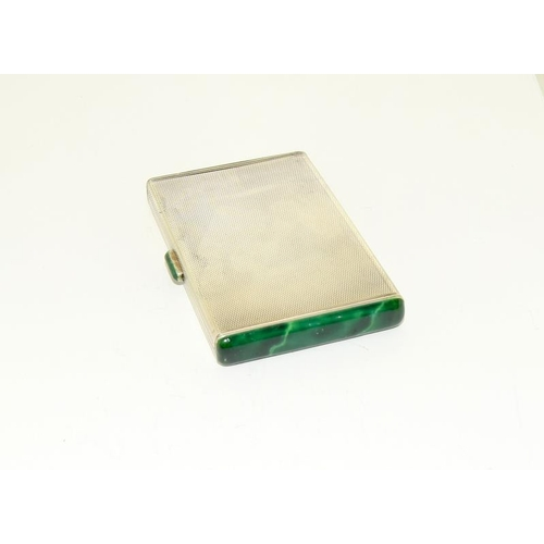 5 - Silver Card Case with enameled edge, 91.8g....