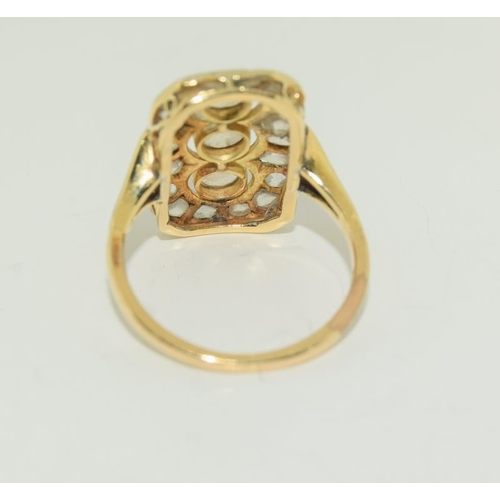 230 - 18ct Gold late Victorian Diamond ring, Size J....