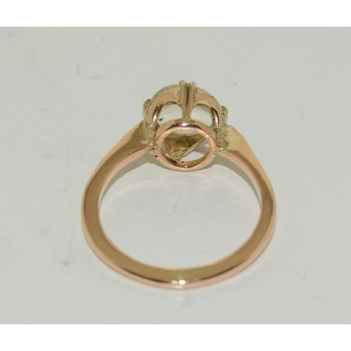 170 - 9ct Gold ladies Moonstone ring, Size M....