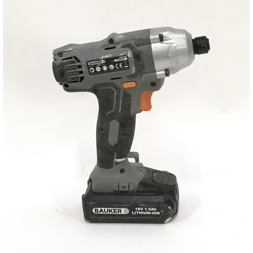 16 - Workzone cordless angle grinder together a Bauker cordless drill ref 13,14