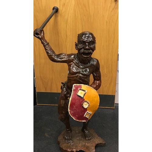 12 - Aboriginal pottery figurine (95cm)...