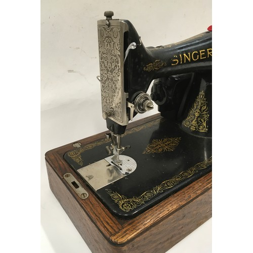 17 - Vintage Singer electric sewing machine and case no.Y571245s...