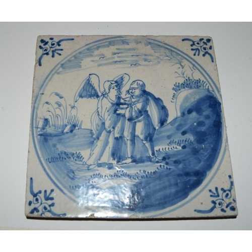 41 - English Delftware Lambeth tile