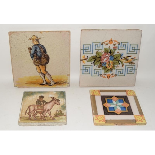 286 - Large early Spanish tile 8