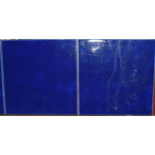 348 - Large modern tile panel mounted on board depicting fish 20