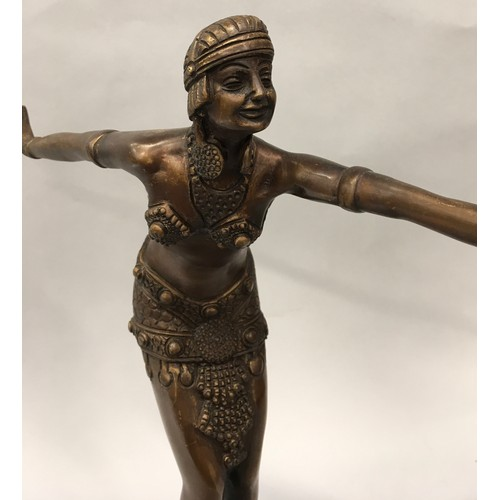 30 - A Deco Style Bronze figure....