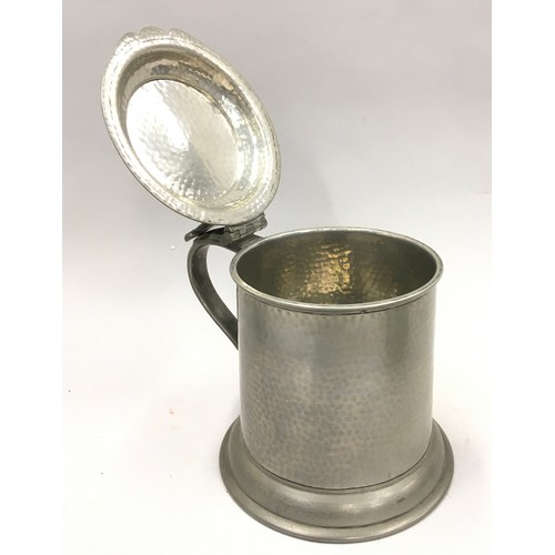 16 - Collection of pewter and other items to include vintage oil cans...