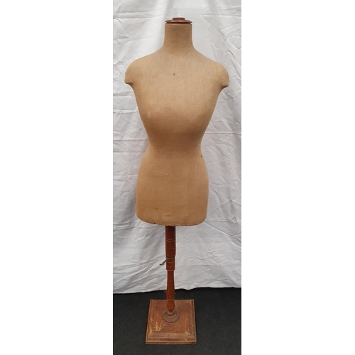 7 - Antique shop display mannequin on stand 155cm tall....