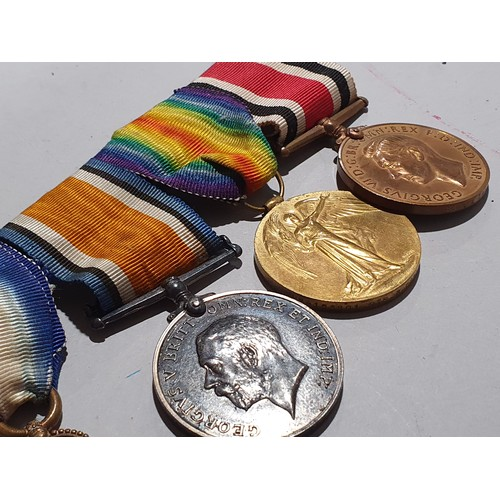 1 - WW1 campaign set of four medals to S. Crowland....