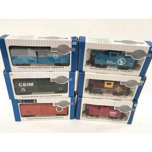 17 - 6 x Bachmann Silver Series HO Rolling Stock to include 3 x 40' Box Cars and 3 x 36'  Wide Vision Cab...