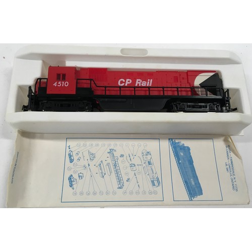 42 - 2 Model Power HO diesel locomotives: Alco C430 CO Rail 4510 and RS11 CP Rail 8776. Both appear Excel...