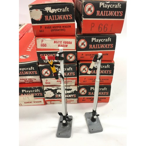 36 - Jouef for Playcraft group to include 0-4-0 Locomotive, coaches, Car Transporter, Wagons, and signal ...