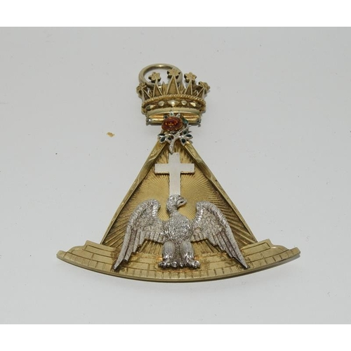 10 - Rose Croic 18th Degree Collar Jewel by George Kenning depicting the crown ,English rose,,swan and th...