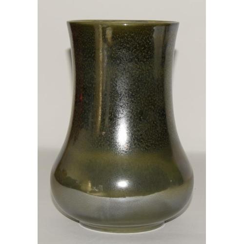 27 - Pilkingtins Royal Lancastrian grey/brown mottled metallic/Lustre glaze vase fully marked & signed to...