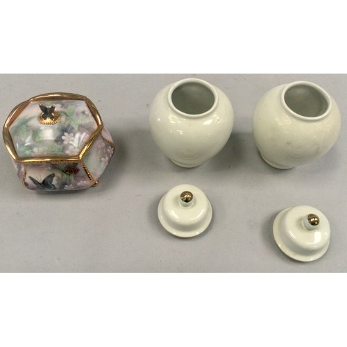 21 - Six items of miscellaneous china to include Lladro, Nao and Wedgwood.