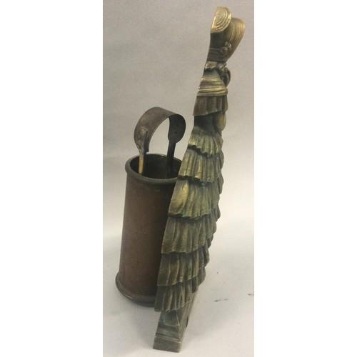 41 - Crinoline lady fire irons 45cm tall