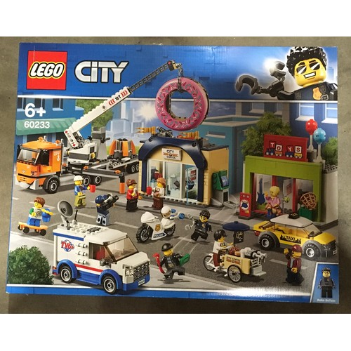 14 - Lego City Donut Shop Opening set 60233 (retired). New and sealed.