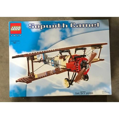 4 - Lego Sopworth Camel set 3452- 1st World War biplane (retired). New and sealed.