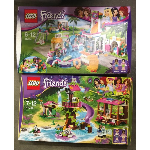 48 - Lego Friends Sets: 41313 Heartlake Summer Pool and 41308 Jungle Rescue Base (both retired). New and ...