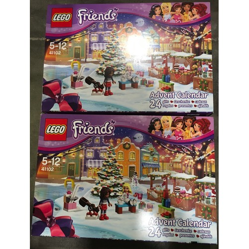 46 - 2 Lego Friends Advent Calendars sets 41102 (retired). New and sealed.