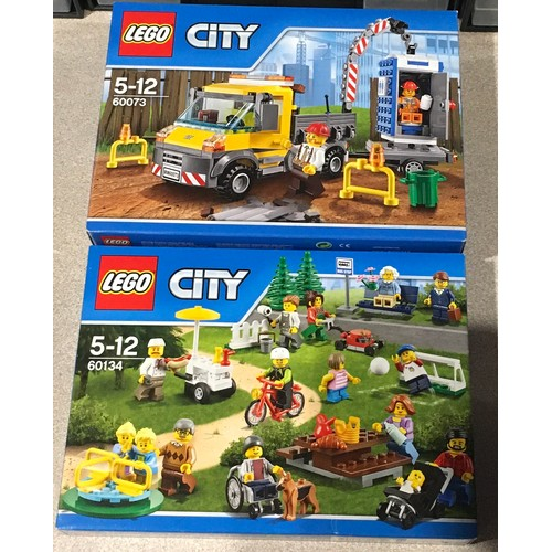 33 - 2 x Lego City sets: 60073 Service Truck and 60134 Fun in the Park - City People Pack (both retired)....
