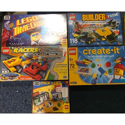 32 - 4 x Lego Board games and a puzzle: Racers Super Speedway Game, Time Cruisers Game, Create It Game, B...