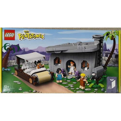 3 - Lego Ideas The Flinstones: 21316, (retired) New and sealed.