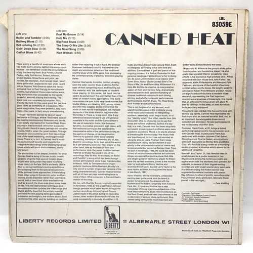 1095 - CANNED HEAT self titled lp vinyl record. Found here on Mono Liberty LBL 83059E in VG+ condition.