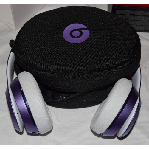 39 - Beatssolo 3 Ultra Violet Collection wireless headphones. Boxed