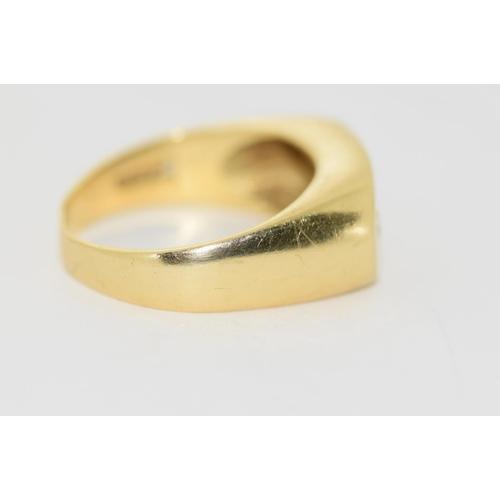 36 - 18ct gold Gypsy 3 stone diamond ring size S