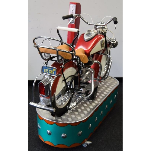 1 - Lenaerts Indian Motorcycle Arcade Ride fully restored 1950 child's ride. Made by Edwin Hall & Co in ...