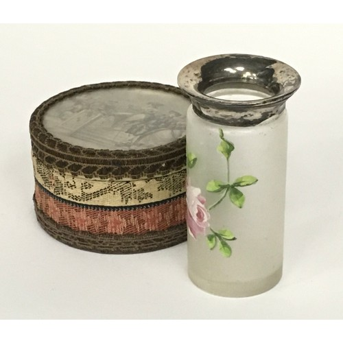 9 - Silver lidded pill box plus 2 others