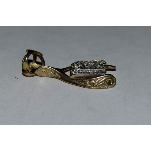 34 - 9ct gold diamante charm for 18 years old