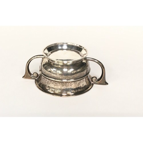 21 - Silver twin handled bowl  100gm