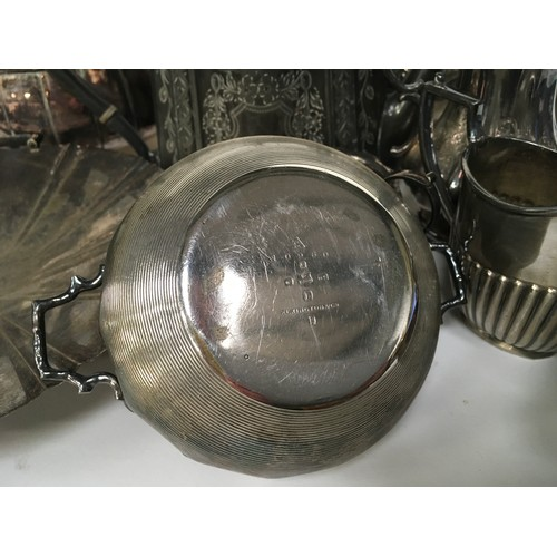 29 - Large quantity of silver plated items