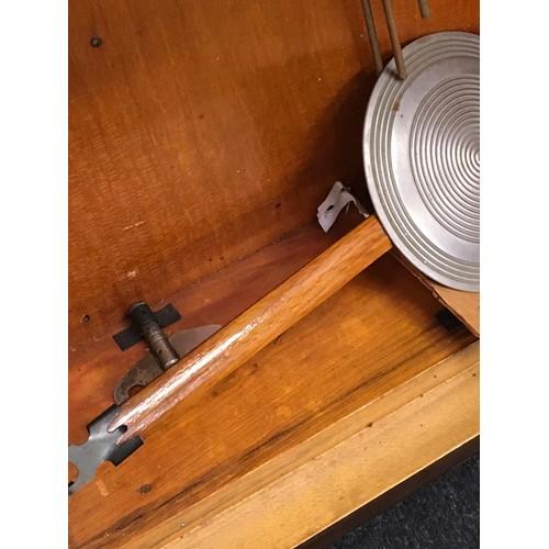 48 - Wooden framed striking pendulum wall clock