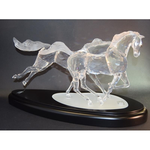 248 - Swarovski Crystal The Wild Horses limited edition 2001 comes in custom made Grey Padded box with fra...