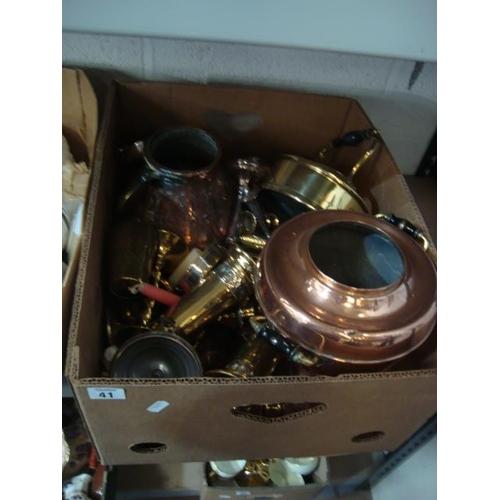 41 - BOX COPPER & BRASS...