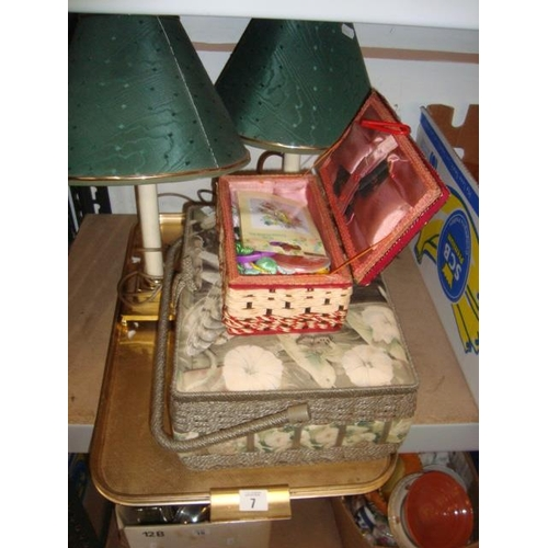 7 - SEWING BOXES ETC...