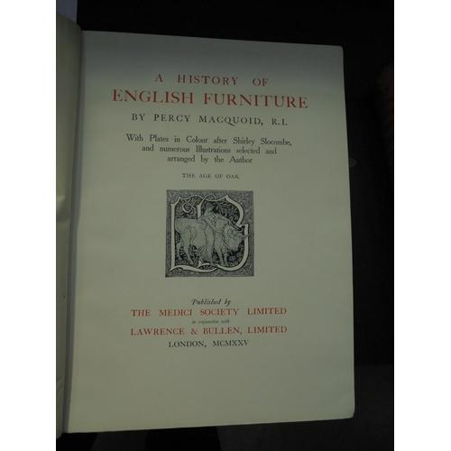22 - MACQUOID - A HISTORY OF ENGLISH FURNITURE 1925