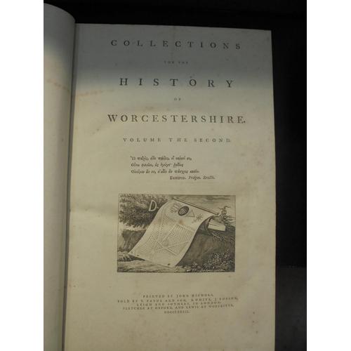 23 - 2 VOLS - NASH'S HISTORY OF WORCESTERSHIRE 1781/2