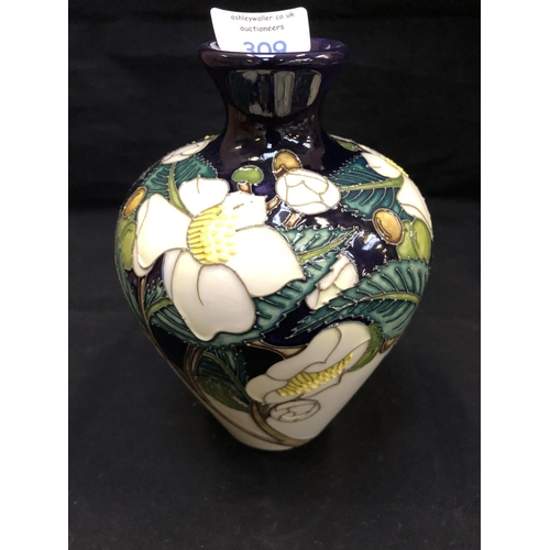 309 - A MOORCROFT POTTERY VASE DECORATED IN THE 'CAMELLIA' PATTERN DESIGNED BY NICOLA SLANEY, SHAPE NUMBER...