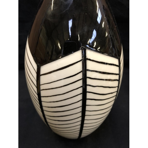 310 - A MOORCROFT POTTERY VASE DECORATED IN THE 'TRIBE' PATTERN DESIGNED BY EMMA BOSSONS, SHAPE NUMBER 9/1...